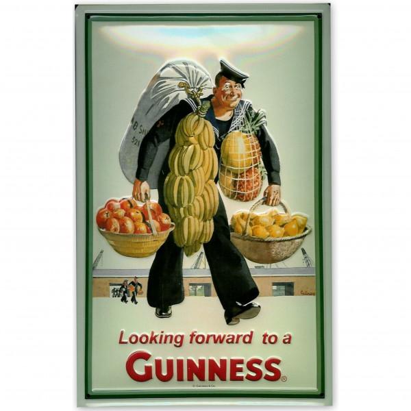 Blechschild Guinness Sailor Seemann Bier Schild Kneipenschild