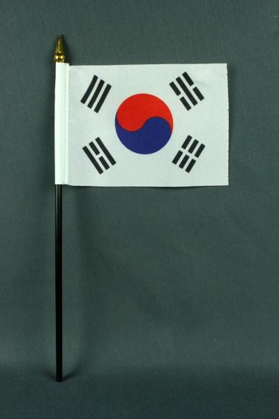 Kleine Tischflagge Süd Korea 10x15 cm optional mit Tischfähnchenständer
