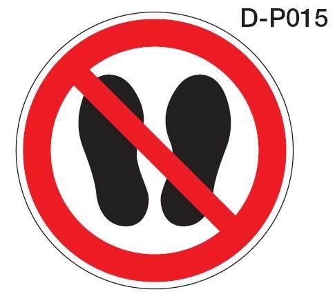 Aluminium Verbotsschild D-P015 Betreten der Fläche verboten verschiedene Größen 0,6 mm Alu