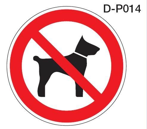 Aluminium Verbotsschild D-P014 Mitführen von Tieren 200mm / 0,6 mm Alu Schild Hund