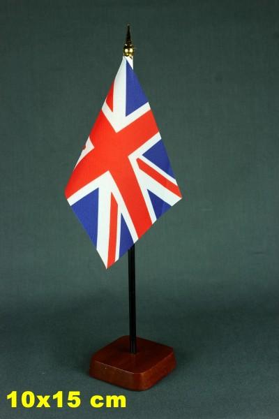 Tischflaggenständer - Sockel 1-fach Holz Mahagoni - farben für 10x15cm Tischflaggen