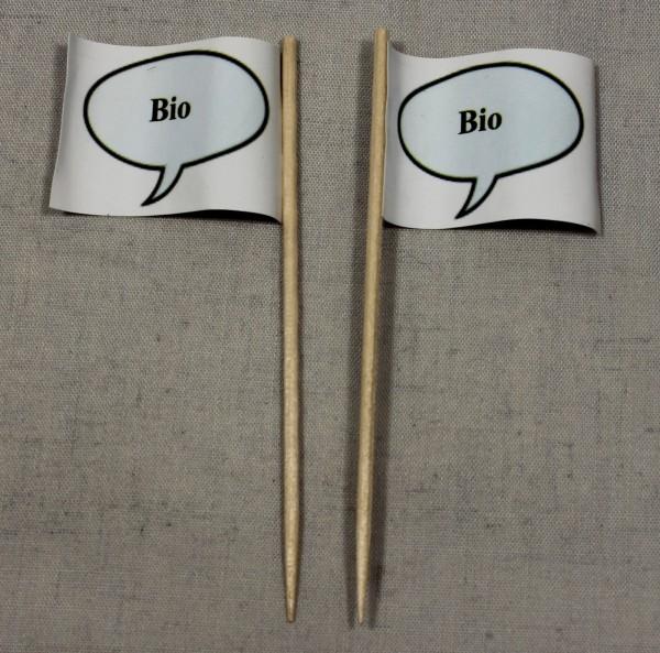 Party-Picker Flagge Bio Papierfähnchen in Spitzenqualität 50 Stück Beutel