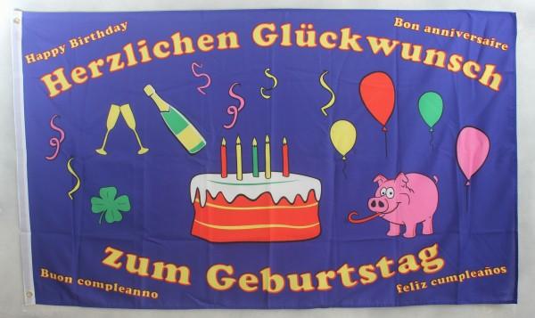 Flagge Fahne : Geburtstag Glückwünsche Geburtstagsflagge Happy Birthday