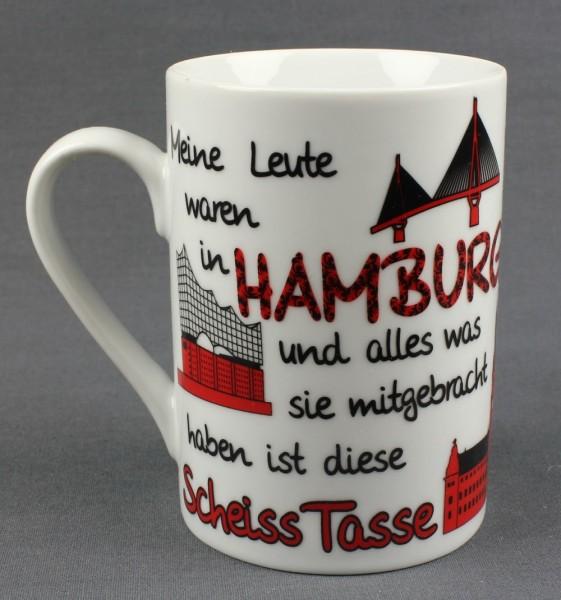 """Hamburg """"Scheiss Tasse"""" FUN-Becher Hamburger Souvenir Kaffeetasse Kaffee Pott"""
