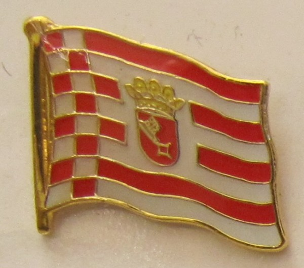 Pin Anstecker Flagge Fahne Bremen Stadtflagge Flaggenpin Button Badge Flaggen Clip Anstecknadel
