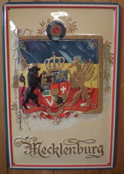 Blechschild Nostalgieschild : Mecklenburg Wappen