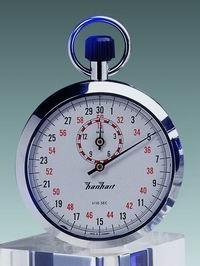 Mechanische analog Anker Kronen Stoppuhr Hanhart 1/10 sec 15 min