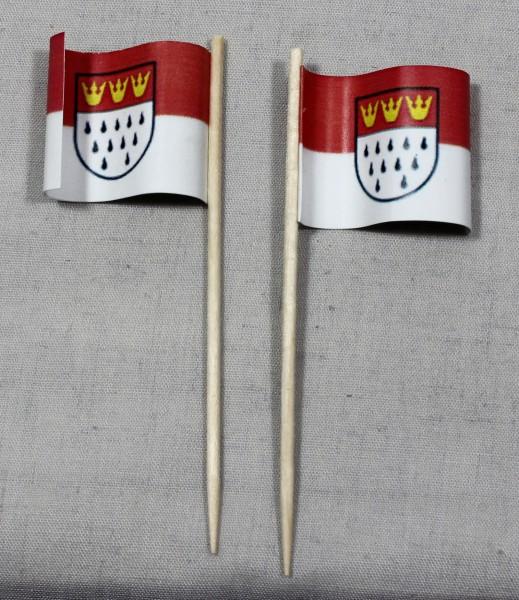 Party-Picker Flagge Köln Papierfähnchen in Spitzenqualität 50 Stück Beutel