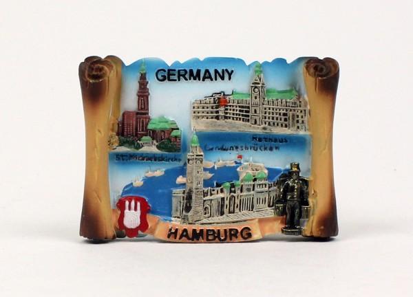 3D Magnet Hamburg Rathaus Michel Landungsbrücken Hummel Souvenirs Andenken