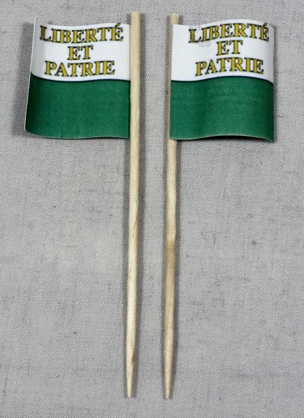 Party-Picker Flagge Vaud Kanton Schweiz Papierfähnchen in Spitzenqualität 50 Stück Beutel