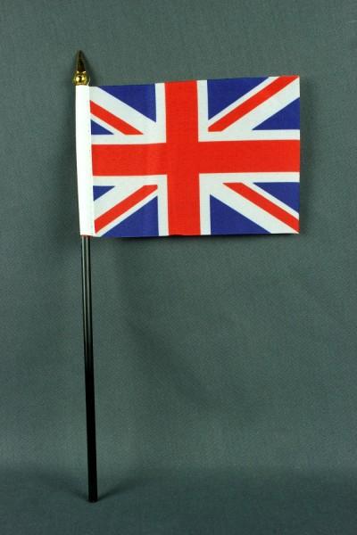 Kleine Tischflagge Großbritannien Union Jack 10x15 cm optional mit Tischfähnchenständer