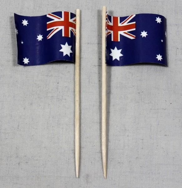 Party-Picker Flagge Australien Papierfähnchen in Spitzenqualität 50 Stück Beutel