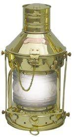 Ankerlampe Schiffslampe elektrisch 39cm Messing