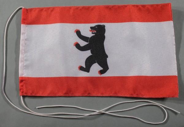 Tischflagge Berlin 25x15 cm optional mit Holz- oder Chromständer Tischfahne Tischfähnchen