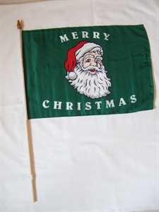 Stockflagge Merry Christmas Weihnachten 30x45cm