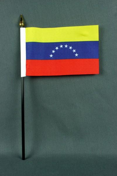 Kleine Tischflagge Venezuela 10x15 cm optional mit Tischfähnchenständer
