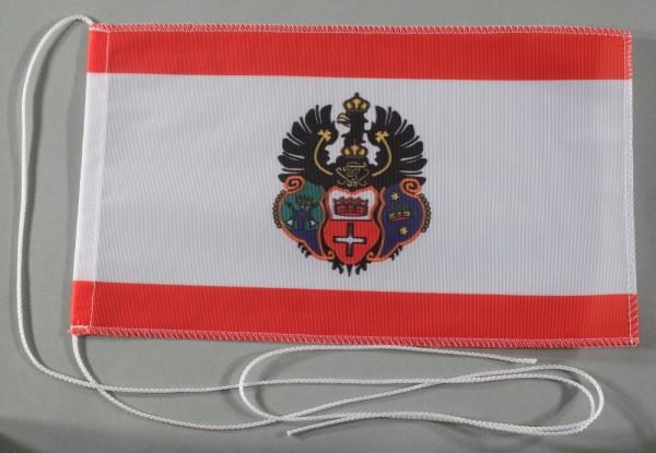 Tischflagge Königsberg Stadtflagge 25x15 cm optional mit Holz- oder Chromständer Tischfahne Tischfäh
