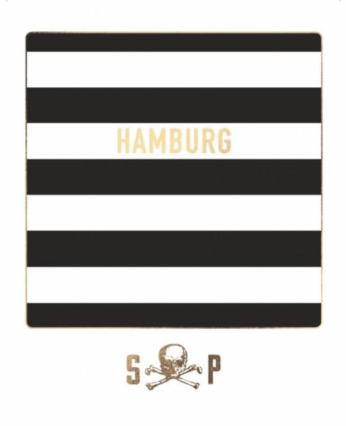 Postkarte Hamburg St. Pauli Goldfolie