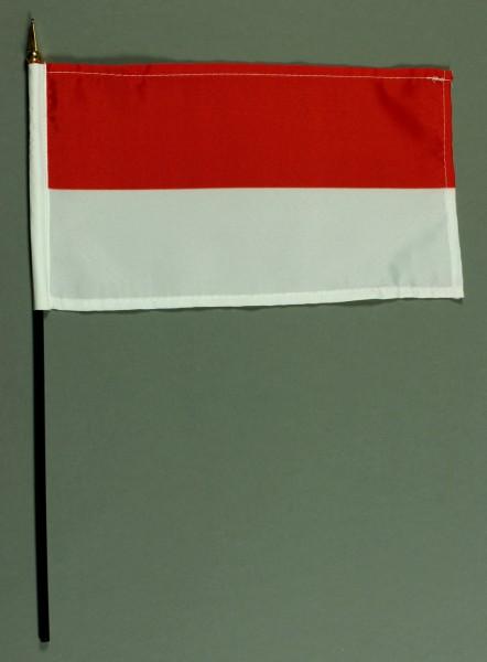 Tischflagge Indonesien 15x25 cm BASIC optional mit Tischflaggenständer