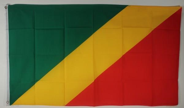 Flagge Fahne : Kongo Brazaville Nationalflagge Nationalfahne