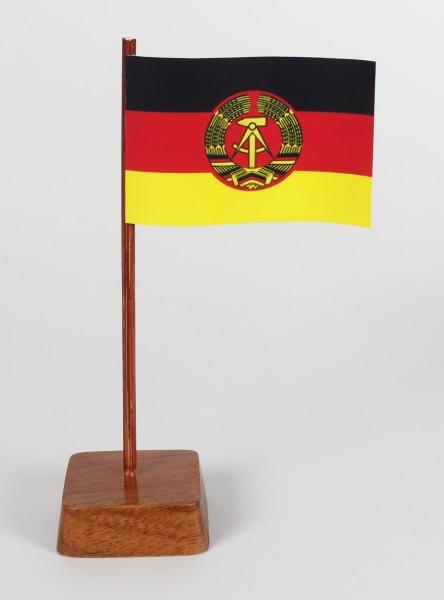 Mini Tischflagge DDR Höhe 13 cm Tischfähnchen