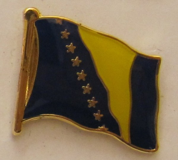 Pin Anstecker Flagge Fahne Bosnien Herzegowina Nationalflagge Flaggenpin Button Badge Flaggen Clip A