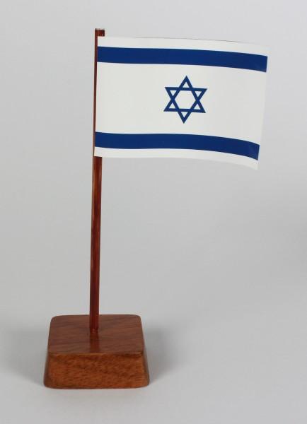 Mini Tischflagge Israel Höhe 13 cm Tischfähnchen