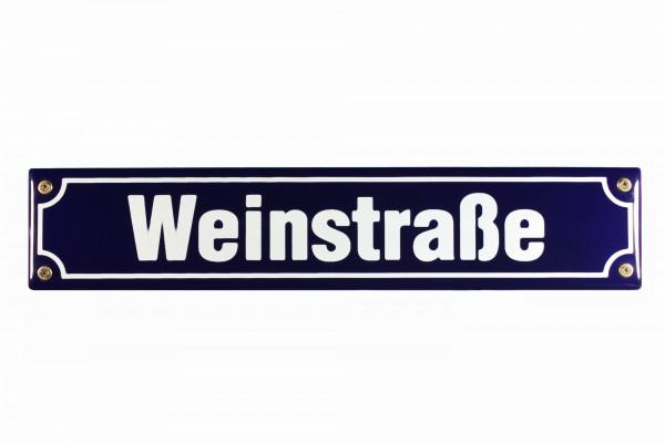Strassenschild Weinstrasse 40x8 cm Email Weinlokal Strassen Schild Emaille