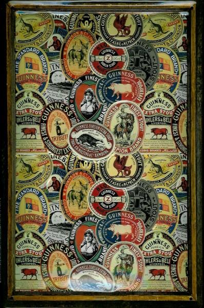 Blechschild Guinness Bier framed Labels Schild Nostalgieschild
