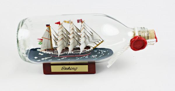 Peking runde Flasche 0,3 Liter Buddelschiff Flaschenschiff
