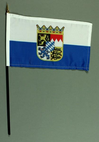 Tischflagge Bayern Landesflagge 25x15 cm BASIC optional mit Tischflaggenständer