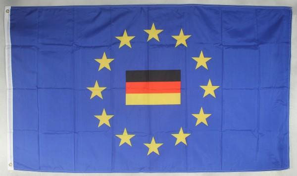 Flagge Fahne Europa mit Deutschland mittig Europaflagge Europarat
