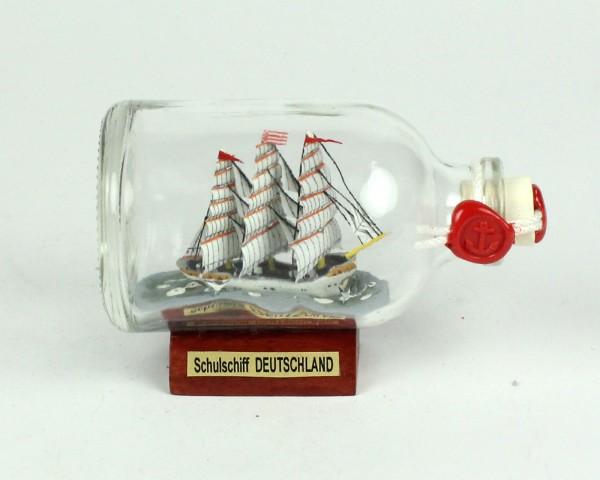 Schulschiff Deutschland Mini Buddelschiff 50 ml ca. 7,2 x 4,5 cm Flaschenschiff