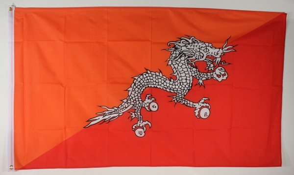 Flagge Fahne : Bhutan Buthan Nationalflagge Nationalfahne