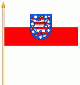 Stockflagge Thüringen 30x45cm