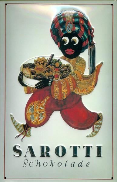 Blechschild Sarotti Mohr Schokolade Pralinen Werbeschild retro Schild
