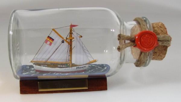 Möwe rundes Gewürzglas 0,25 Liter Buddelschiff Flaschenschiff