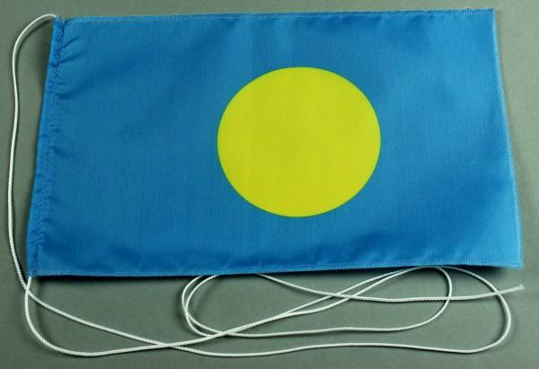 Tischflagge Palau 25x15 cm optional mit Holz- oder Chromständer Tischfahne Tischfähnchen