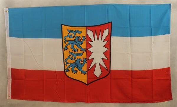 Flagge Fahne Schleswig Holstein mit Wappen Landesflagge