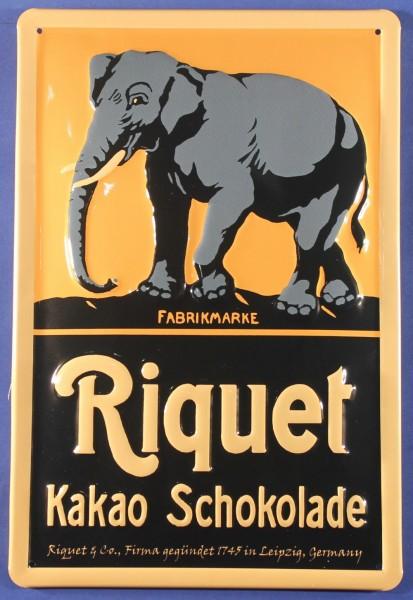 Blechschild Riquet Elefant Leipzig Schokolade Kakao Schild Nostalgieschild