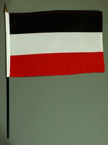 Tischflagge Deutschland Kaiserreich 20x30 cm optional mit Tischflaggenständer aus Mahagoni Holz