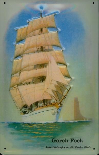 Blechschild Gorch Fock Marine Ehrenmal Laboe Schulschiff Kiel Schiff Schild Nostalgieschild