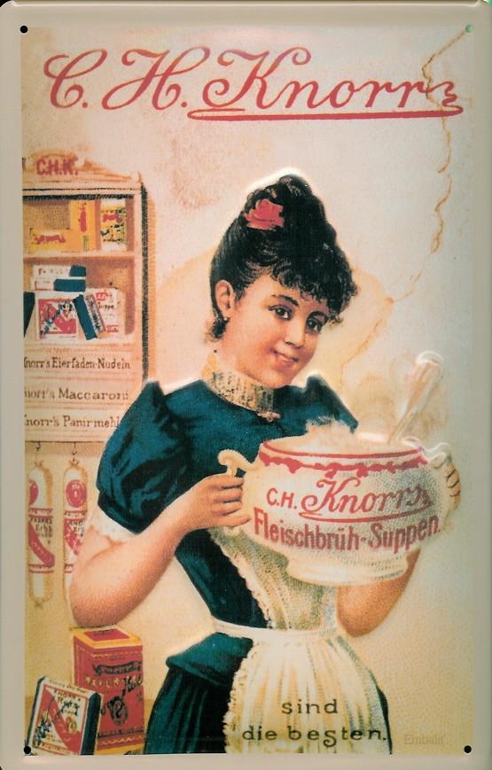 Blechschild Knorr Suppen Küche Frau Suppenterrine Schild Reklameschild |  Nahrungsmittel, Kaffee, Tee Und Schokolade | Nostalgieschilder | Buddel  Bini Inh. ...