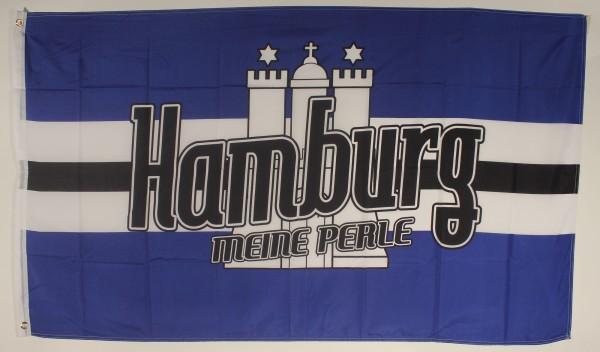 Flagge Fahne Hamburg meine Perle hamburger Hamburgflagge Stadtflagge HSV