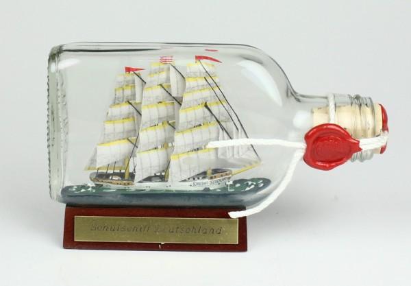 Schulschiff Deutschland Buddelschiff Flachmann 0,1 Liter ca. 13x7 cm Buddelschiff Flaschenschiff