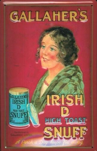 Blechschild Nostalgieschild Gallaher's Irish Snuff Schnupftabak