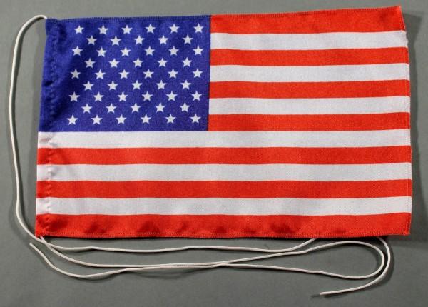 Tischflagge USA 25x15 cm optional mit Holz- oder Chromständer Tischfahne Tischfähnchen