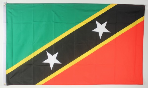 Flagge Fahne : St. Kitts und Nevis Nationalflagge Nationalfahne