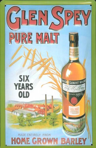Blechschild Glen Spey Malt Whisky Werbeschild retro Schild Kneipenschild