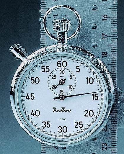 Mechanische analog Stoppuhr Hanhart ROBUST 200 1/5 sec 30 Minuten